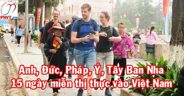 Bắt đầu từ ngày 1/7/2018, Việt Nam thực hiện nâng thời hạn miễn cấp thị thực với 5 nước châu Âu lên 3 năm
