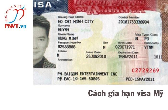 cách gia hạn visa mỹ