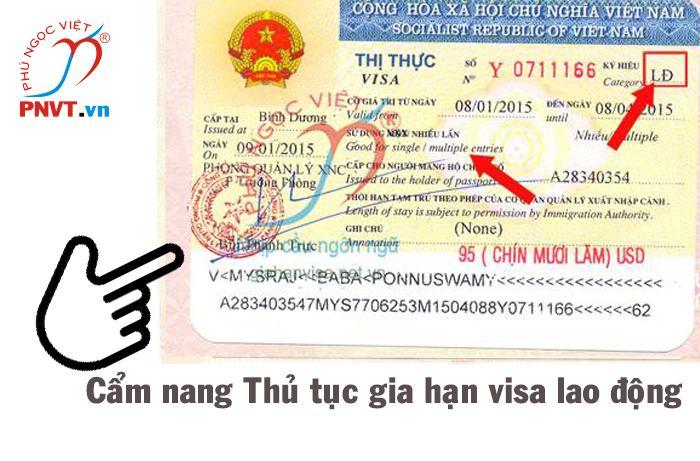 thủ tục gia hạn visa lao động