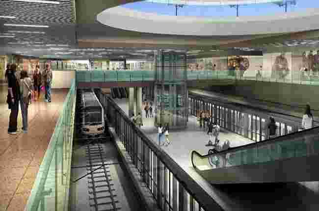 Cận cảnh thi công nhà ga ngầm metro