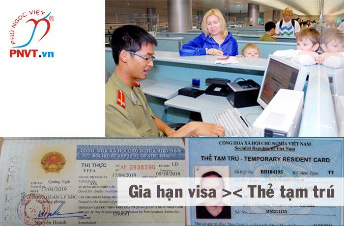 Chọn gia hạn visa hay xin cấp thẻ tạm trú Việt Nam