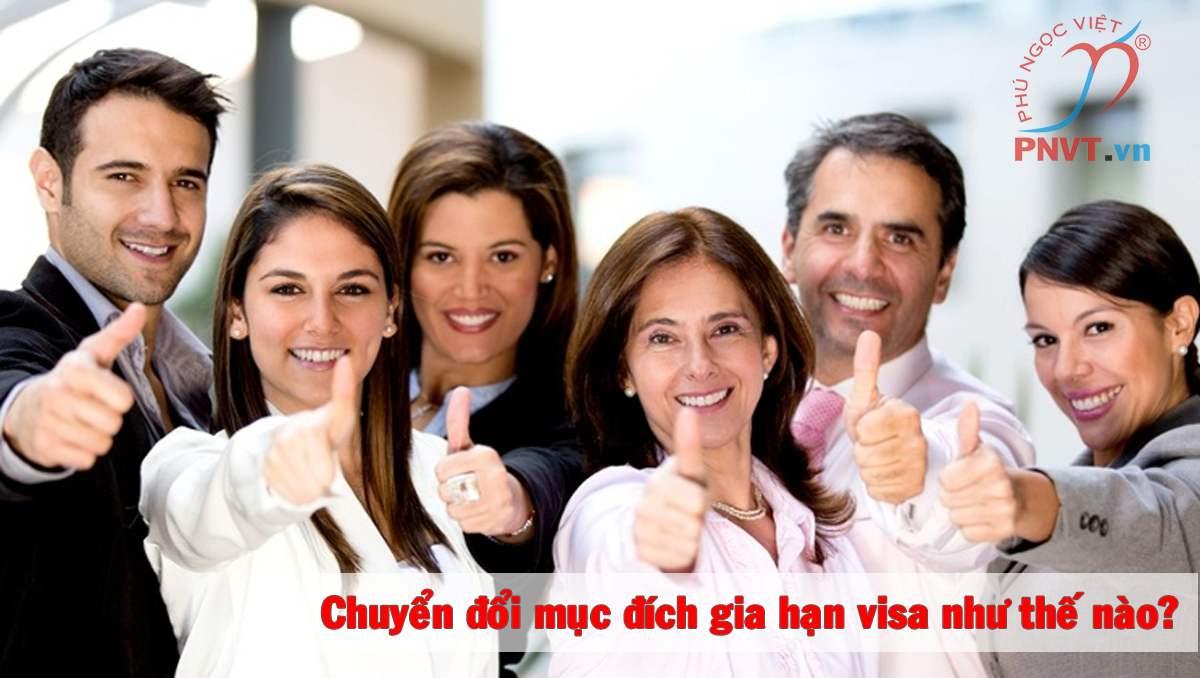 chuyển đổi mục đích visa Việt Nam