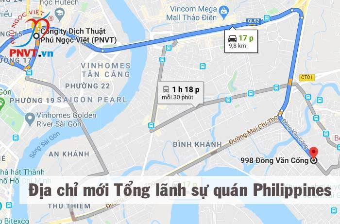 Tổng lãnh sự quán Philippines tại TPHCM dời về địa chỉ mới