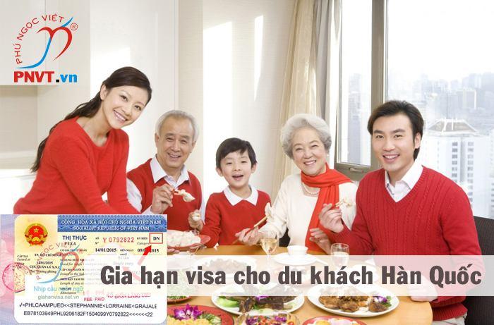 gia hạn visa du lịch cho người Hàn Quốc