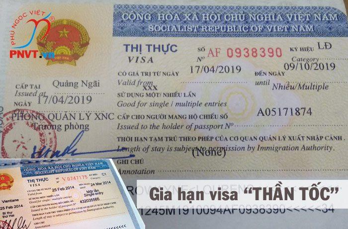 Dịch vụ gia hạn visa thần tốc cho người nước ngoài tại TPHCM