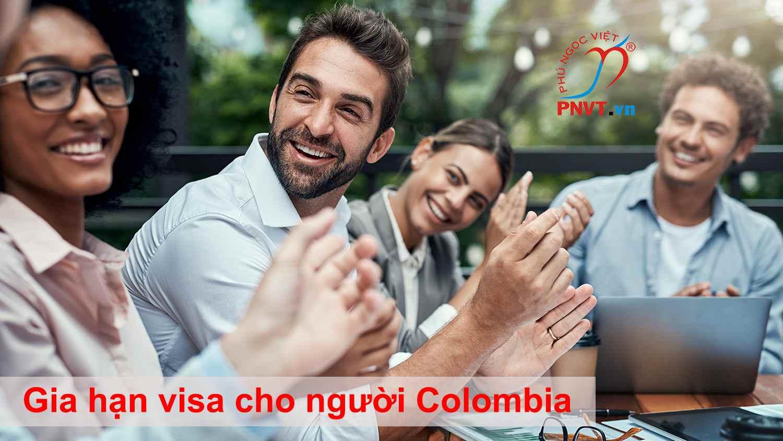 gia hạn visa cho người Colombia