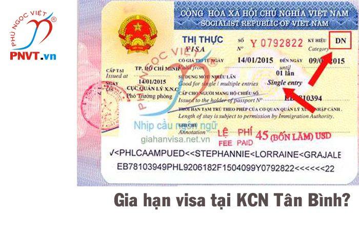 Gia hạn visa cho người nước ngoài ở khu công nghiệp Tân Bình TPHCM