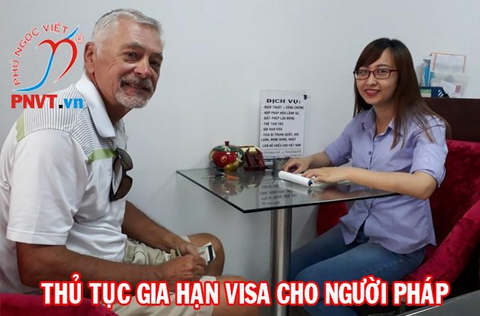 gia hạn visa du lịch cho người pháp