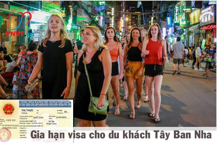 gia hạn visa du lịch cho người tây ban nha