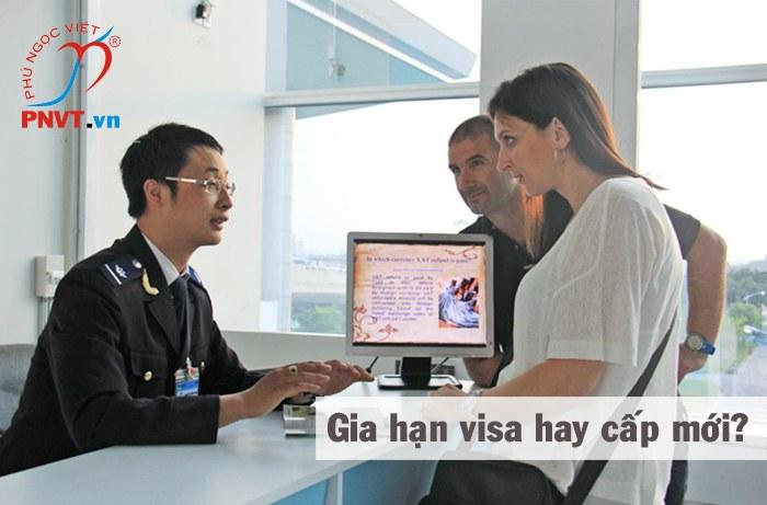 Gia hạn visa hay cấp mới visa theo thời hạn của giấy phép lao động