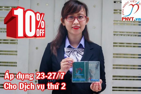 Giảm giá 10% phí dịch vụ gia hạn visa tại PNVT nhân ngày Thương binh liệt sĩ 27.7