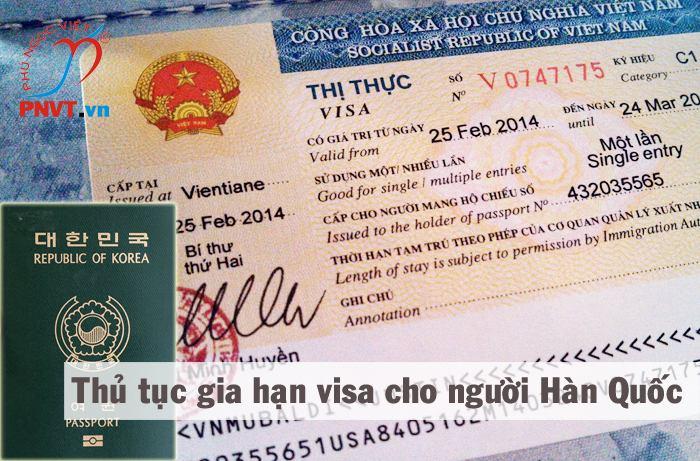 hồ sơ gia hạn visa cho người hàn quốc