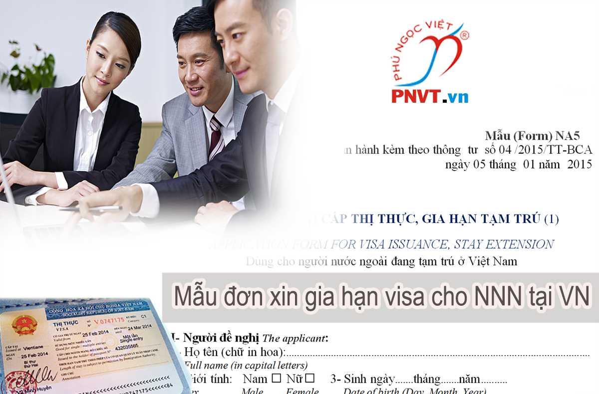 mẫu đơn xin gia hạn visa cho người nước ngoài tại Việt Nam