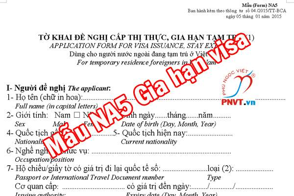 mẫu na5 gia hạn visa