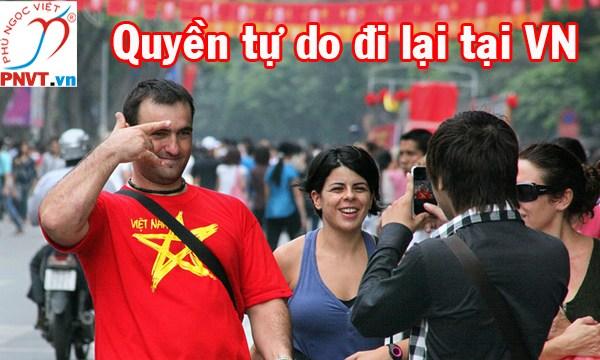 Quyền tự do đi lại và cư trú của người nước ngoài tại Việt Nam