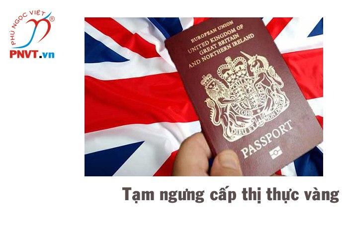 Tạm ngưng cấp thị thực vàng tại Anh