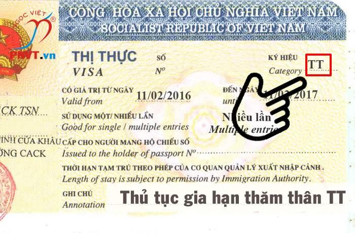 thủ tục gia hạn visa thăm thân