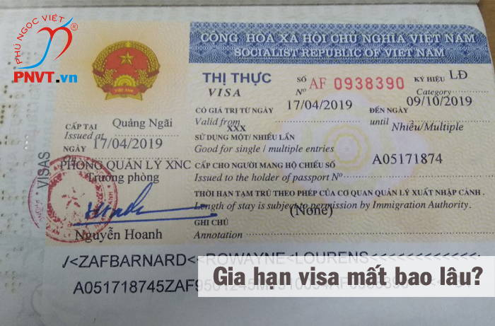thời gian gia hạn visa mất bao lâu