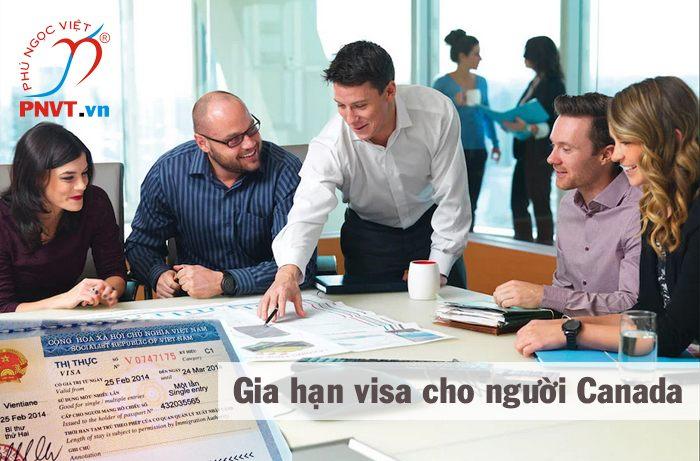 thủ tục gia hạn visa cho người canada
