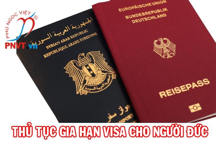 thủ tục gia hạn visa cho người đức