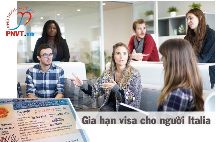 thủ tục gia hạn visa cho người italia