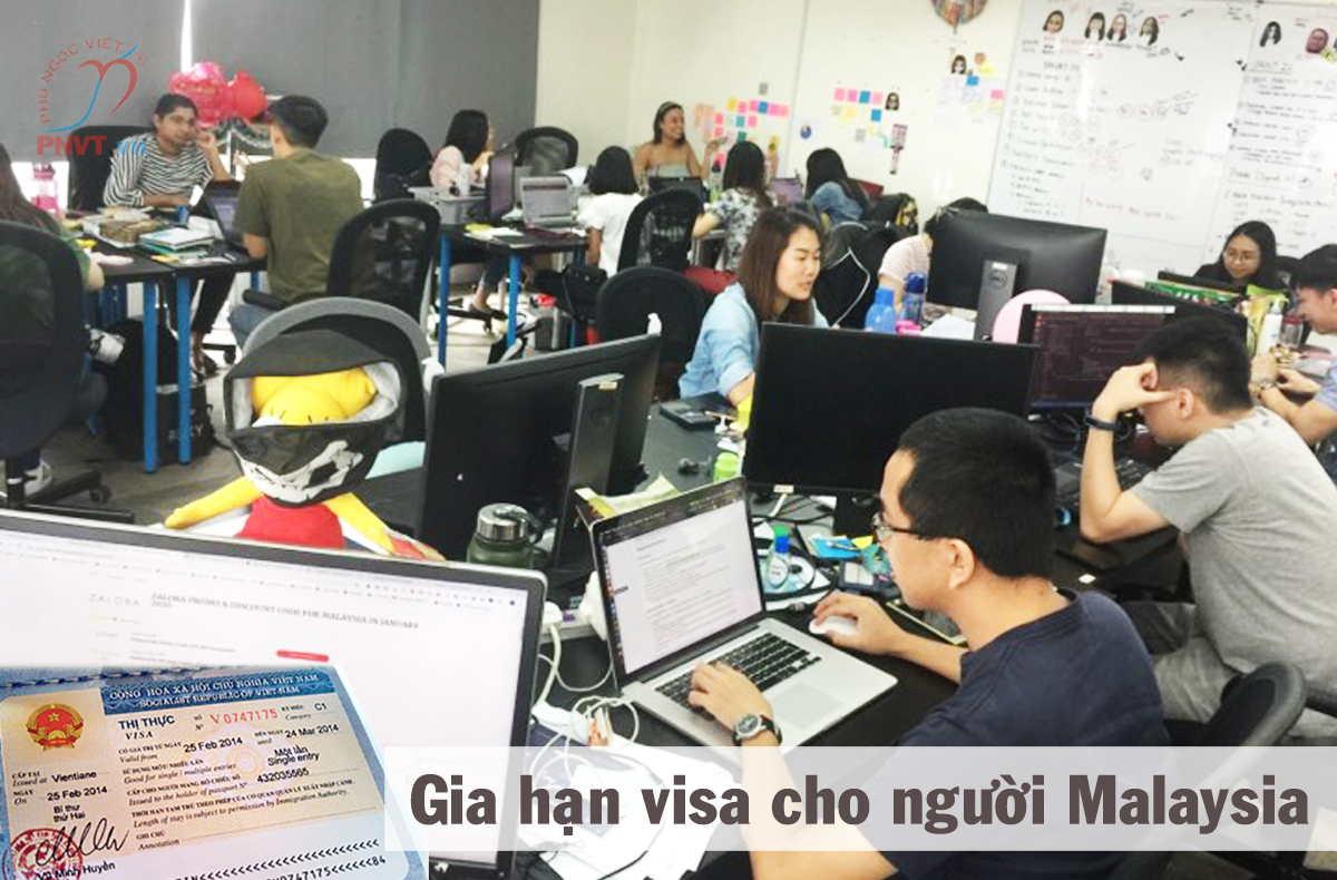 thủ tục gia hạn visa cho người malaysia