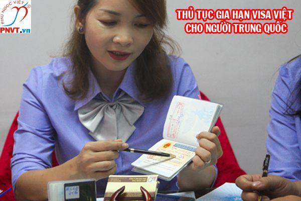 gia hạn visa trung quốc