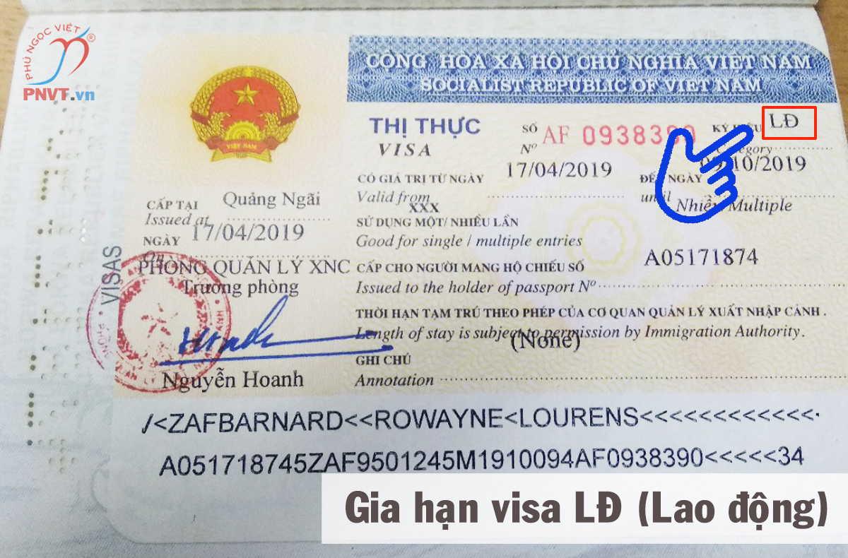 thủ tục gia hạn visa lđ