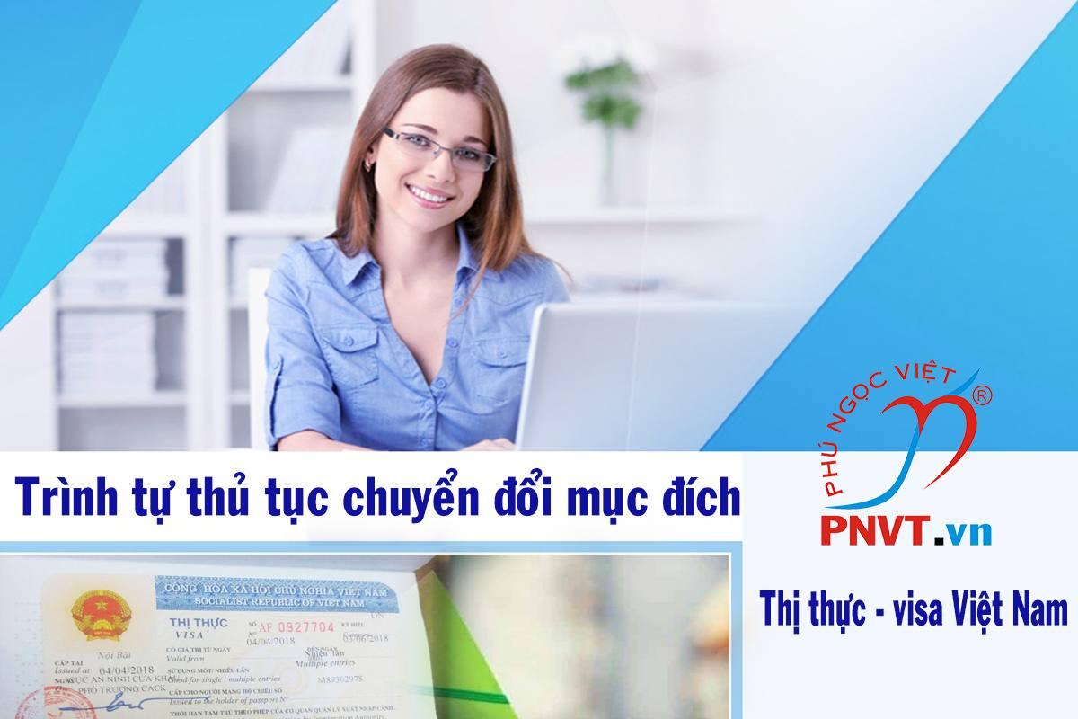 trình tự thủ tục chuyển đổi mục đích thị thực Việt Nam