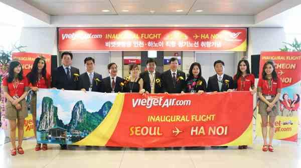 VietJet khai trương đường bay Hà Nội - Seoul