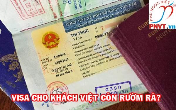 Visa cho khách Việt đi du lịch nước ngoài còn rườm rà